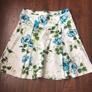 Floral Mint Banana Republic Skirt